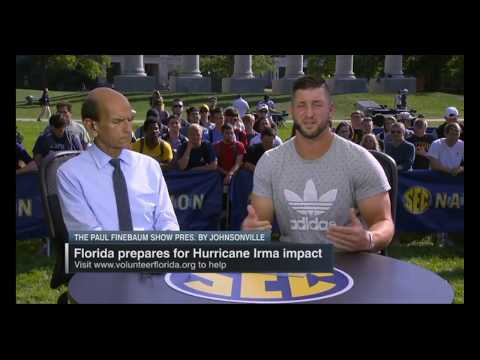 Tim Tebow on Hurricane Irma: We can put down our banners