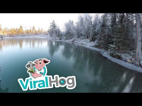 Skating on Crystal Clear Ice || ViralHog