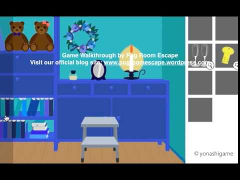 Room Escape Game Walkthrough BLUE By Yonashi