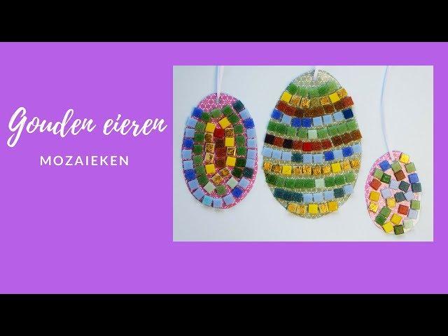 eieren mozaieken voor Pasen