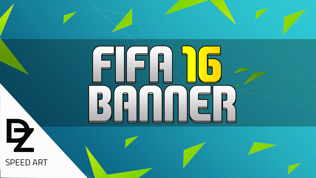 Speed Art | FIFA 16 EDITABLE BANNER TEMPLATE | - YouTube