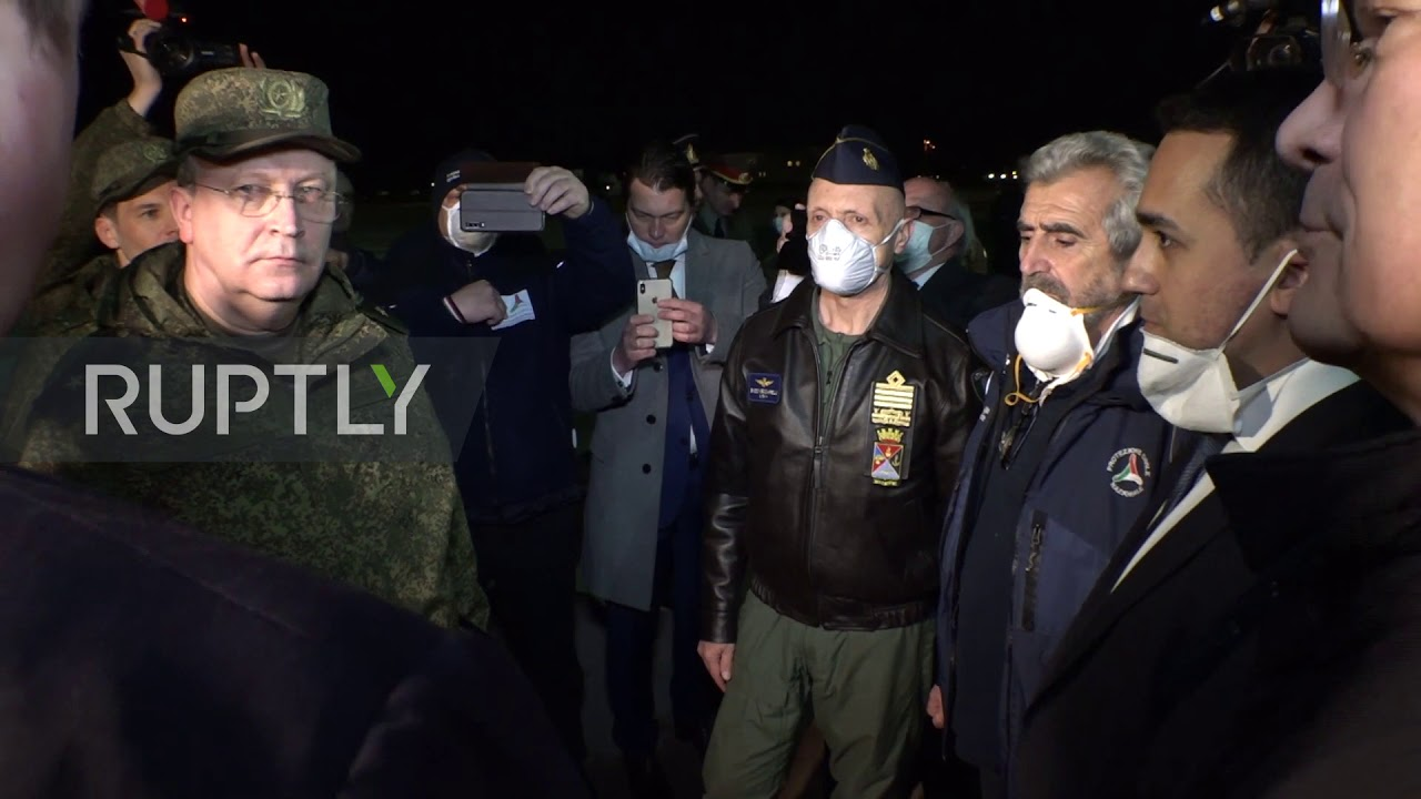 Italy: Russian military planes with coronavirus aid arrive in Rome thumbnail