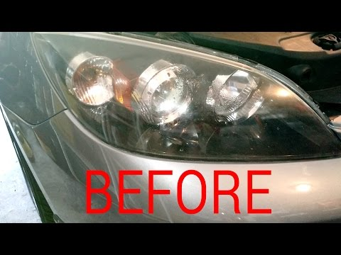 Fogged headlight, 2006 Mazda3