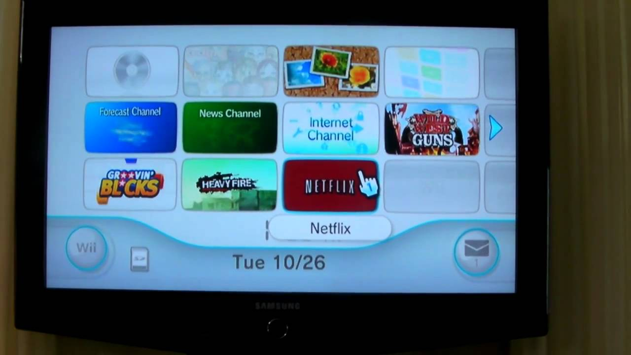 How to hook up netflix on wii