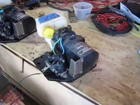 Mercury Trim Tab Pump  Trim Tab Motor 12volt  YouTube