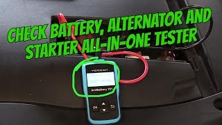 EASY WAY HOW TO CHECK CAR BATTERY A STARTER AND ALTERNATOR !!!