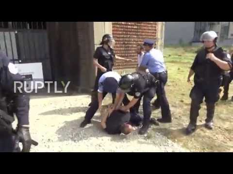 Serbia: Violence as Pristina student group rallies against Serbian Orthodox Church