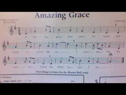 Amazing grace brown belt youtube