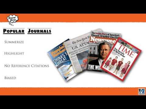 Refereed Vs Popular Journals