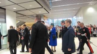 HM the Queen walking through the lobby