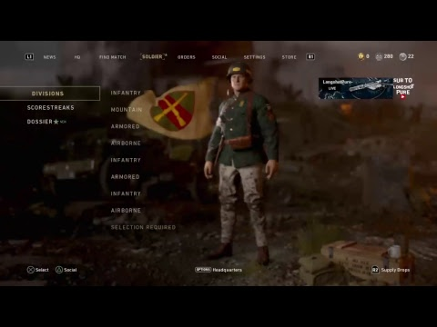 Playing cod WW2 road to chrome.