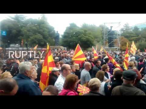 Macedonia: Several thousand march against the government in Skopje