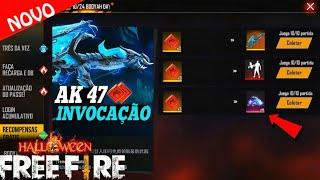 Corre! Pegue a AK47 do DRAGÃO de GRAÇA, novo emote INVOCAÇÃO DRACÔNICA e mais no free fire!