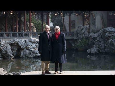 British PM Theresa May visits Yuyuan Garden in Shanghai