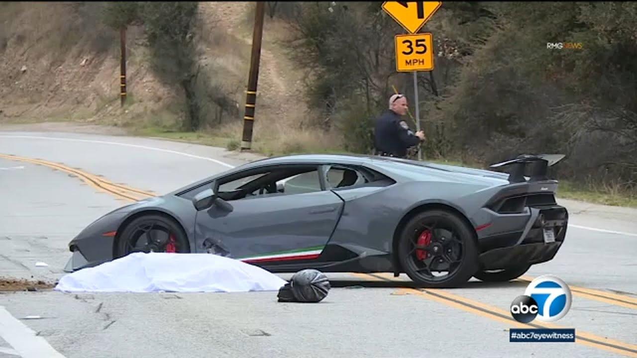 Lamborghini, motorcycle crash leaves 1 woman dead on Mulholland Highway