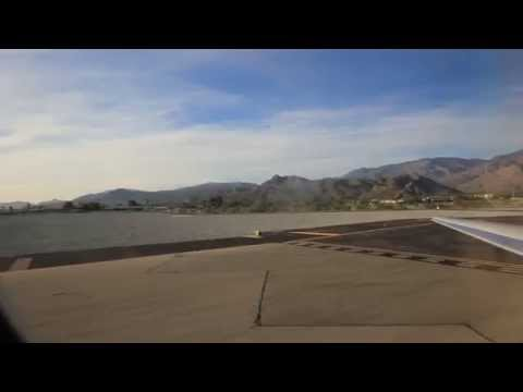 MD 83 American Airlines AA take off Palm Springs California HD flight to Chicago