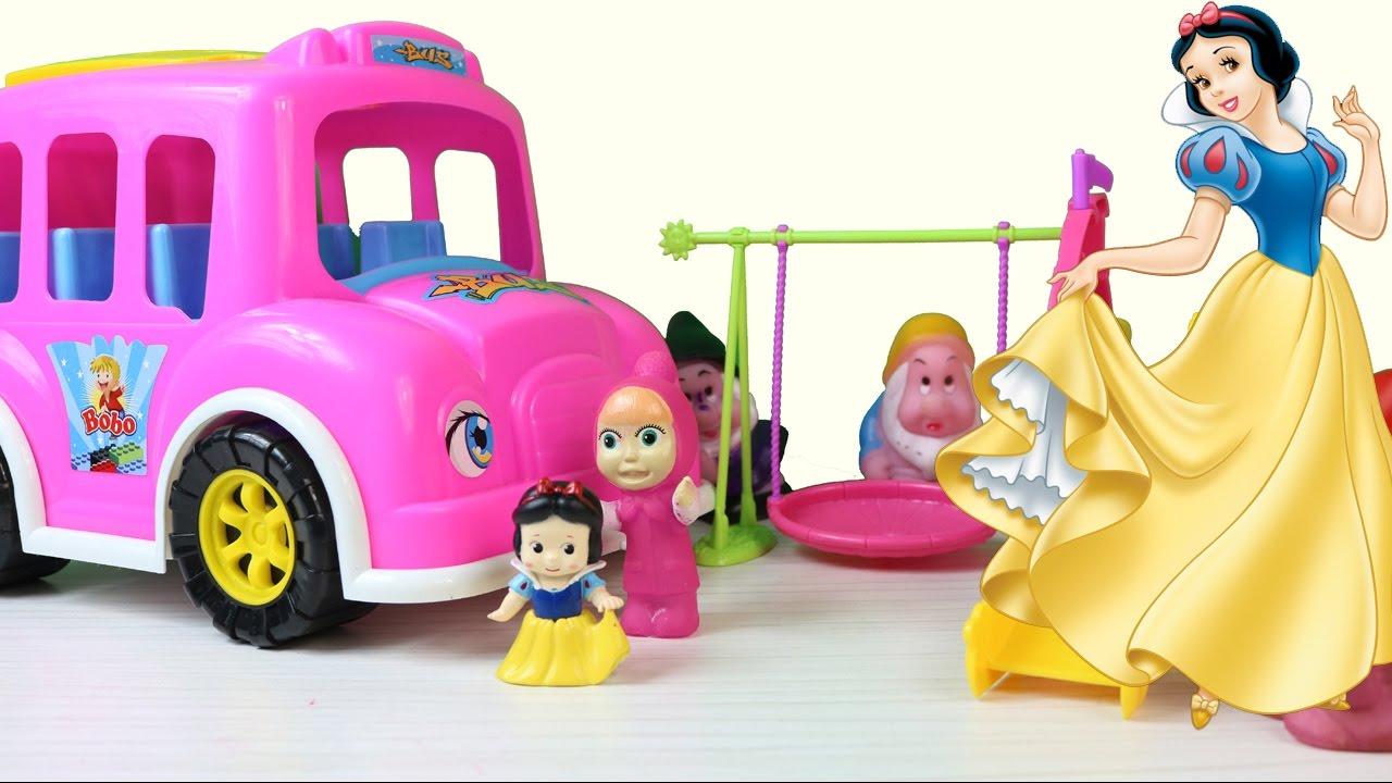 Pamuk Prenses ve Yedi Cüceler ile Otobüsün Tekerleği Dönüyor