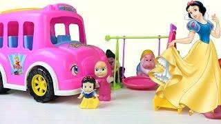 pamuk prenses ve yedi cceler ile otobsn tekerleği dnyor