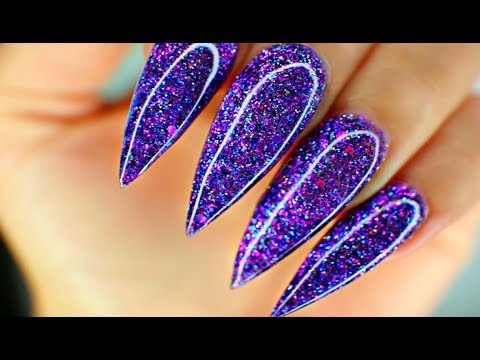 How to Apply Nail Forms and Glitter Acrylic