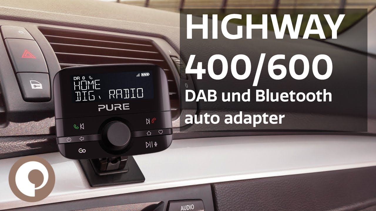 pure highway 400 600 dab und bluetooth auto adapter. Black Bedroom Furniture Sets. Home Design Ideas