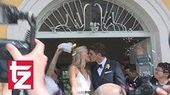 Mario Gomez und Carina Wanzung haben in Schwabing geheiratet