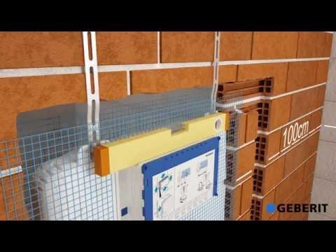 Подвесной унитаз Geberit Sigma Cistern 8 см   установка Сантехника