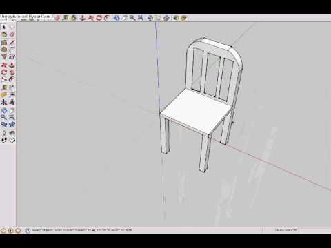 chair design sketchup how to make a swivel stationary pro making on google youtube