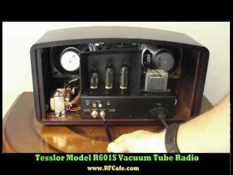 tesslor r601s vacuum tube radio youtube. Black Bedroom Furniture Sets. Home Design Ideas