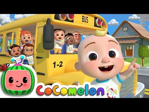 Wheels On The Bus (School Version) | CoComelon Nursery Rhymes & Kids Songs