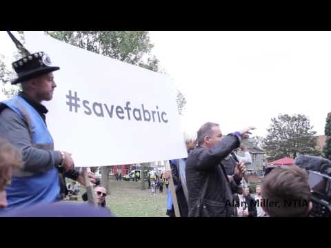 #savefabric protest to save London's nightlife community 8th October