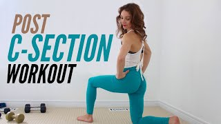 Post C-Section Workout For Full Body Strength & Weight Loss (BODY WEIGHT WORKOUT)