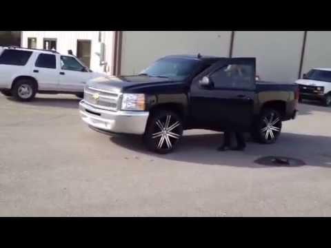 Rims For Chevy Truck 24 inch Borghini BW20 wheels 2013 Chevy truck Nashville TN - YouTube