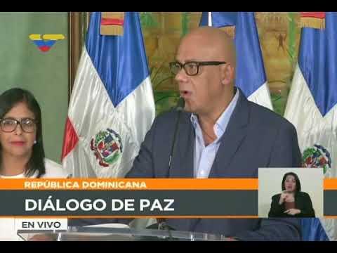 Miguel Vargas y Jorge Rodríguez desde Rep. Dominicana sobre diálogo gobierno-oposición