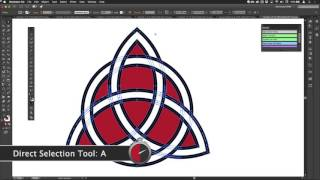 How To Draw A Celtic Knotwork Triquetra Motif in Illustrator (WSNH11)