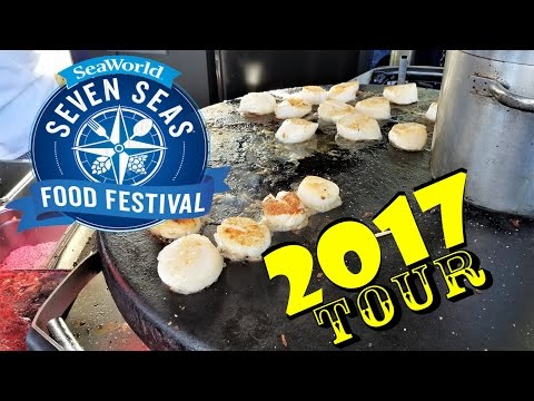 SeaWorld Orlando Seven Seas Food Festival 2017 Tour!