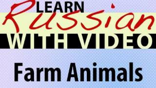 Learn Russian with Video - Farm Animals
