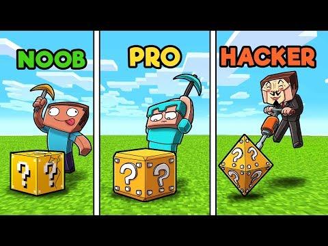 Minecraft LUCKY BLOCK CHALLENGE! (NOOB vs PRO vs HACKER)