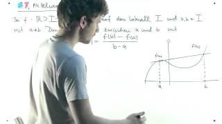 Mathematik: Der Mittelwertsatz (der Differentialrechnung) - Video Vorlesung