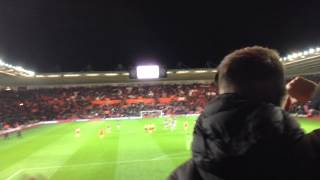 Poetry in motion. Liverpool fans at Southampton