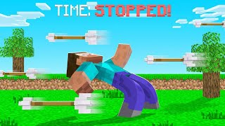 I Can FREEZE ARROWS In Minecraft?! (CONTROL TIME)