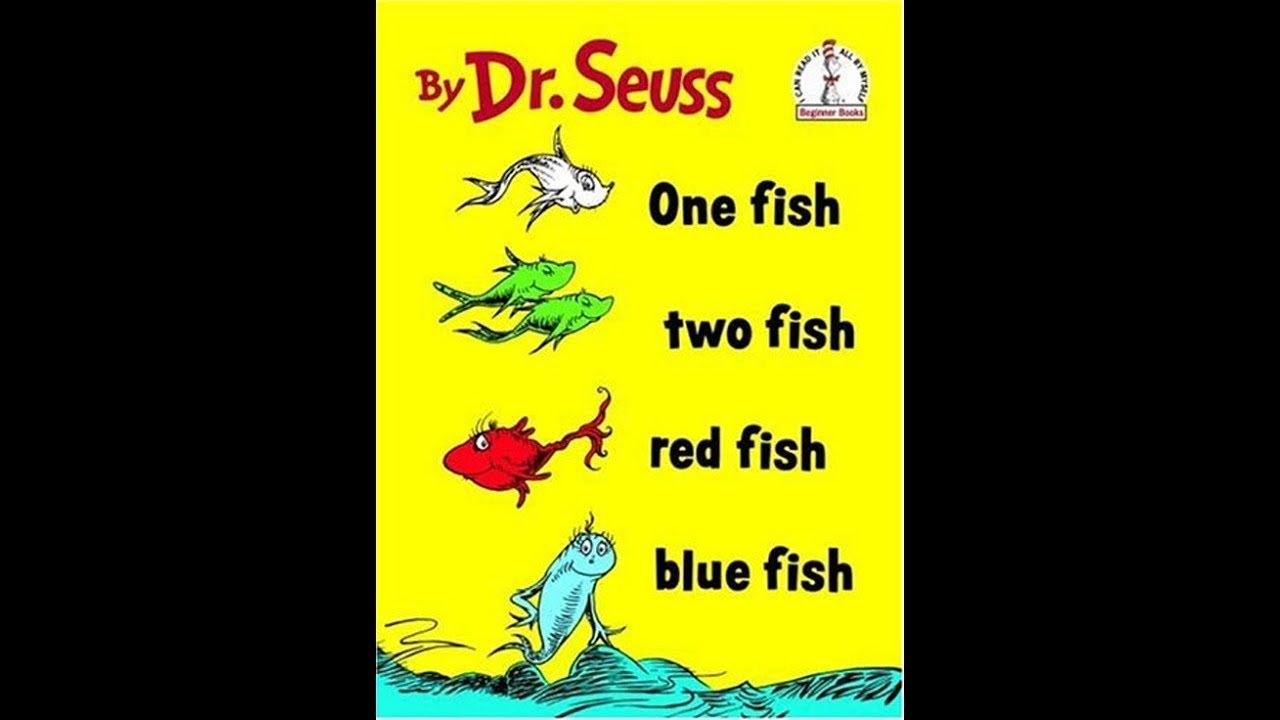 one fish two fish red fish blue fish youtube