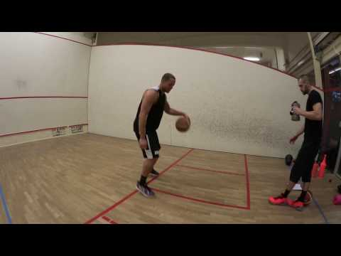 Andrej Mangold stationary Basketball Workout with Coach Paul Gudde