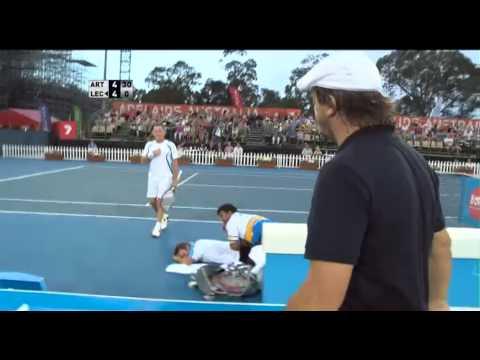 Leconte Massages Wilander In Adelaide - World Tennis Challenge 2013