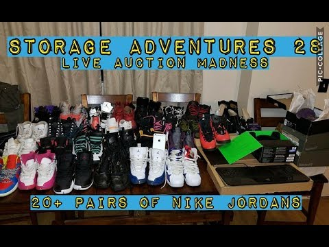 STORAGE ADVENTURES 28: Live Auction Madness With 20+ NIKE Jordans to boot!