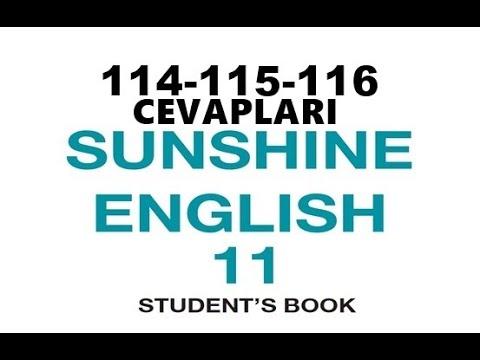 11.Sınıf İngilizce Sunshine Ders Kitabı Cevapları Sayfa 114-115-116