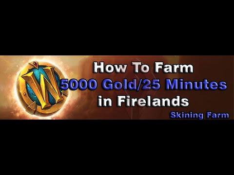 [WOW BFA GOLD FARM 8.3] How To Farm 5000Gold/25 Minutes - Skining Farm in Firelands