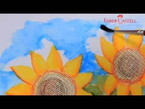 Faber Castell Watercolour Pencils Teknik Salt Youtube