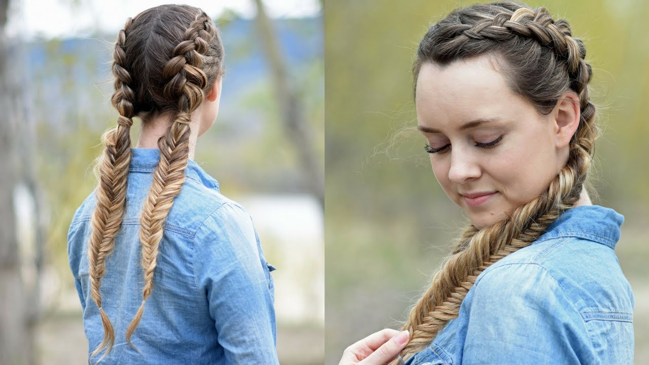 Cute Hairstyles With Dutch Braids: Beautiful Double Dutch Fishtails