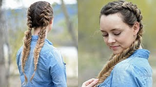 Beautiful Double Dutch Fishtails | DIY Hair Tutorials