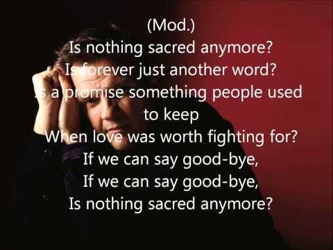 Karaoke - Is nothing sacred anymore - Meat Loaf